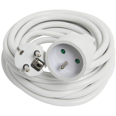 Prolongateur 5m HO5VV-F 3G1.5 blanc - Debflex