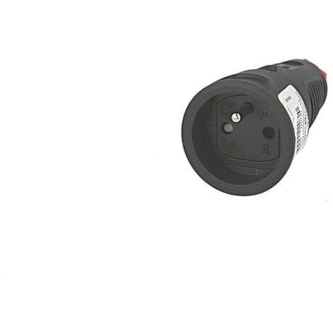 Prolongateur femelle 2P+T (prise Française) 10/16A noire