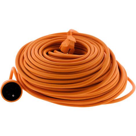 Prolongateur HO5VV-F 3G1,5mm² 50m - Orange - Zenitech