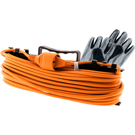 Prolongateur jardin 2x 1,5mm² Orange 25m - Zenitech