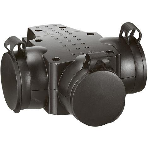 Prolongateur multiprise caout - 3x2P+T - 16 A - anneau de suspension - noir