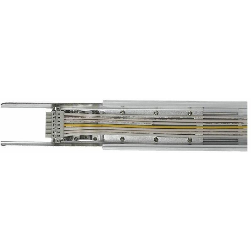 V-tac - Prolunga a Slitta Modulare per Plafoniere Lineari Colore Bianco con 8 Ingressi