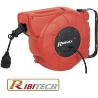Prolunga elettrica con avvolgicavo automatico 22 + 2m Ribitech