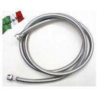Prolunga tubo Carico Lavatrice lavastoviglie cm 250 3/4 MF trecciato inox Made in Italy.