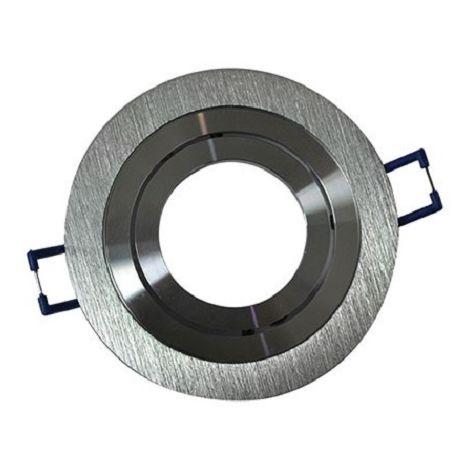 Prolux UDL-1R Recessed adjustable spot Round + Socket GU10 - Aluminium - 0129060103