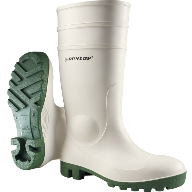 Image of Dunlop ProMaster White/Green Boot Size 12 (47)