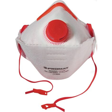 PROMAT Atemschutzmaske Atemschutzmaske Shark · FFP3/V FFP3 / V NR D mit Ausatemventil, faltbar