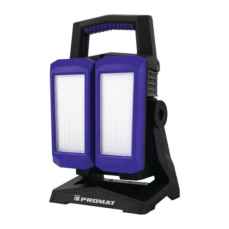 LED-Strahler 50 W 800-4500 lm Li-Ion 4400 mAh 14,8 V IP54 - Promat