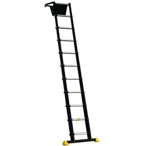 Promo Centaure - Echelle télescopique 11 marches hauteur d'accès maxi 2,30 m - Space Bamboo - TNT
