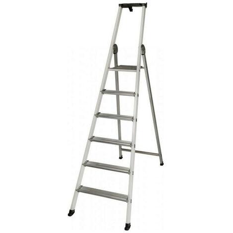 Promo Centaure - Escabeau aluminium laqué 6 marches hauteur d'accès maxi 3,30 m - EXPERT 54