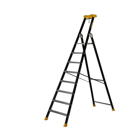 Promo Centaure - Escabeau aluminium laqué 8 marches hauteur d'accès 3,75 m - MP