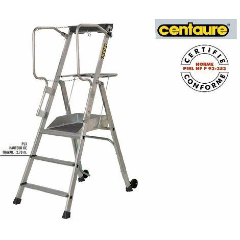 Promo Centaure - Plateforme Individuelle roulante à hauteur Fixe charge 150 Kg maxi. H:2m70 - PL3