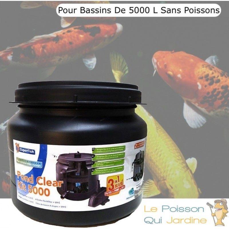 Le Poisson Qui Jardine - Filtre Complet Avec UV 9W, Pompe Pour Bassins De 5000 L, Sans Poissons