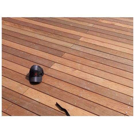 PROMO : Lame de Terrasse Bois Exotique ITAUBA Lisse 21x145 en 1.85m