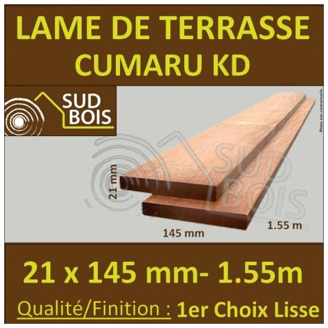 Promo Lame De Terrasse Cumaru Kd 1er Choix 21x145 Lisse 2