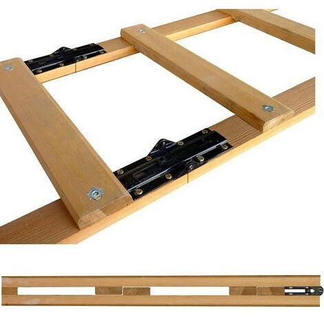 Promo Outifrance - Echelle de couvreur pliante longueur 5m (2 x 2,5 m) et 20 marches