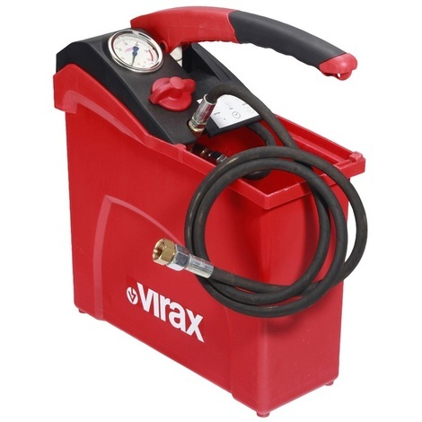 Promo Virax - Pompe d'épreuve manuelle haute pression 100 bar réservoir 10 L