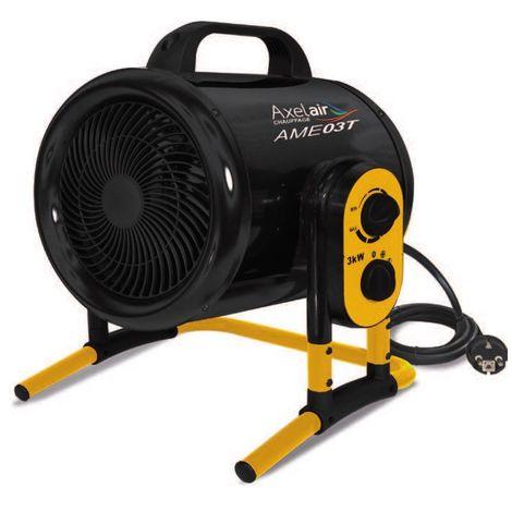 Promotion -Axelair - Chauffage atelier 3000 W débit 420 m3/h surface traitée 40 m2 ventilateur hélicoïde turbo - MobilPro