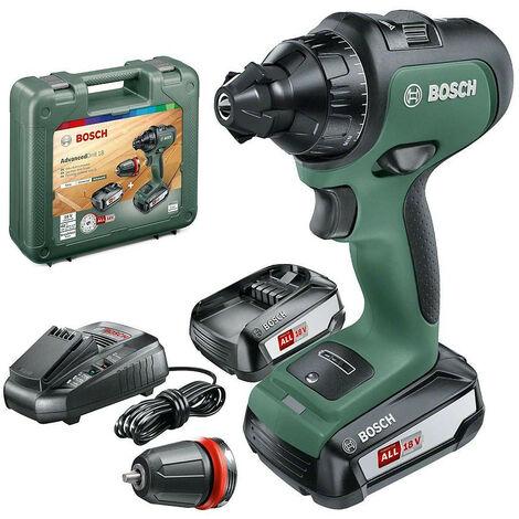 "main image of ""Promotion - Bosch - Perceuse-visseuse sans fil 18 V 2.5 Ah 36 Nm 2 vitesses avec coffret - AdvancedDrill 18"""