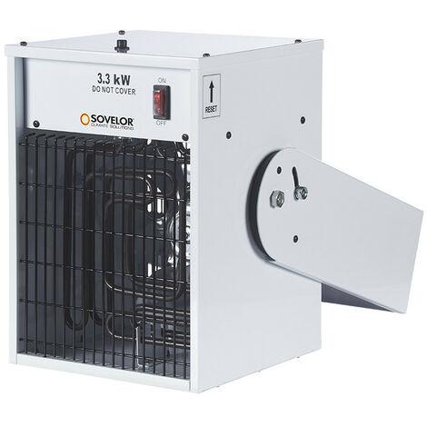 Promotion -Sovelor - Aérotherme suspendu électrique 3,3kW 470 m3/h avec boîtier de commande thermostatique - TR3C