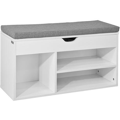 Promotion42%!!-Home White Wood Shoe Storage Rack,FSR45-HG,SoBuy