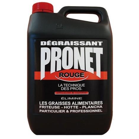 PRONET - Dégraissant rouge appareils ménagers vaporisateur - 5 L