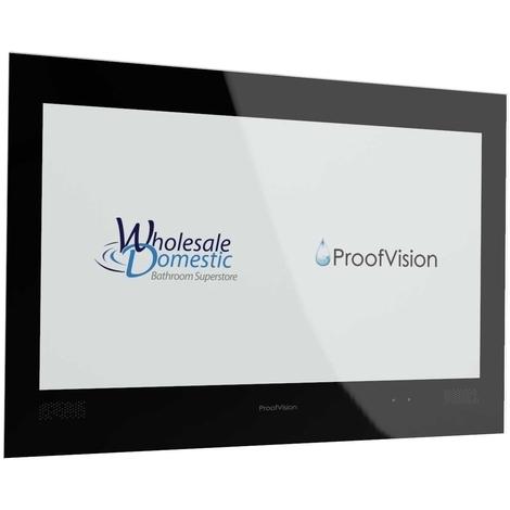 "ProofVision Premium Black 24"" Waterproof Bathroom Television"