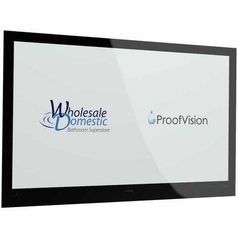 "ProofVision Premium Black 55"" Waterproof Bathroom Television"