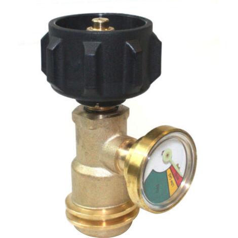 Propano adaptador de laton deposito Indicador de presion Meter Lp Gas Grill Grill