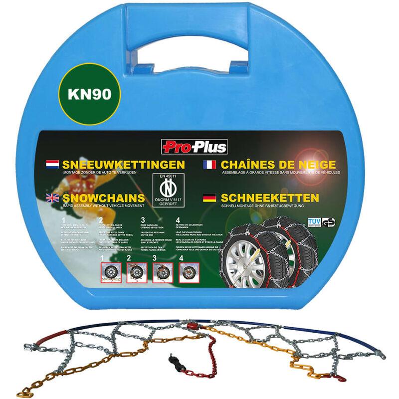ProPlus Chaîne antidérapante de voiture 2 pcs 12 mm KN90