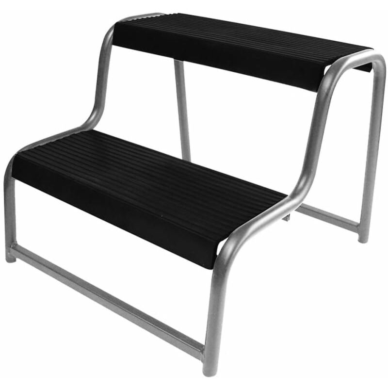 Tremendous Proplus Double Step Stool For Caravan Motorhome Black 360822 Ibusinesslaw Wood Chair Design Ideas Ibusinesslaworg