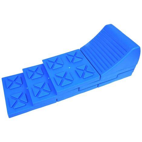 ProPlus Niveleurs empilables de de caravane Plastique Bleu