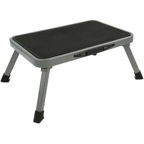 ProPlus Taburete plegable de un escalón de metal 150 kg