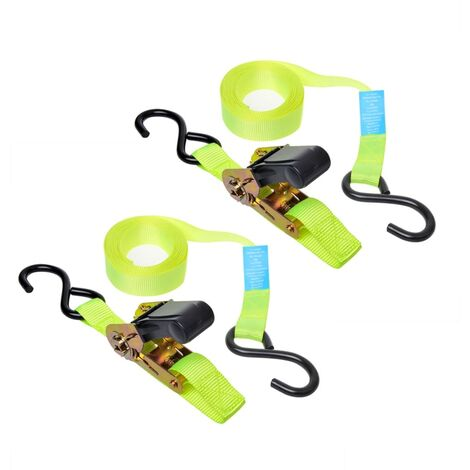 ProPlus Tie Down Strap with Ratchet + 2 Hooks Set of 2 5 m 320204