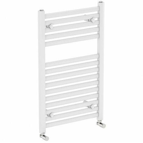 Prorad 2 Straight Towel Rail White 1200mm H x 500mm W - BTU 1704