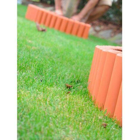 Prosper Plast ipal5-r624 270 x 24 cm jardin Palissade - Terracotta (lot de 12)