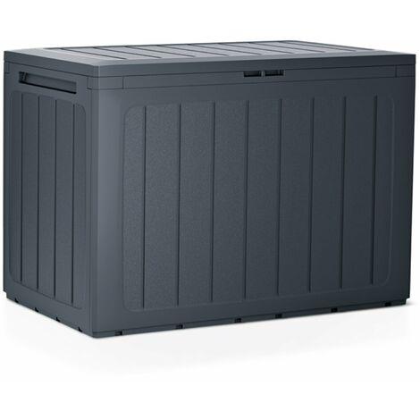 PROSPERPLAST Boîte à jardin 190L plastique anthracite Boardebox 78 x 43,3 x 55 cm