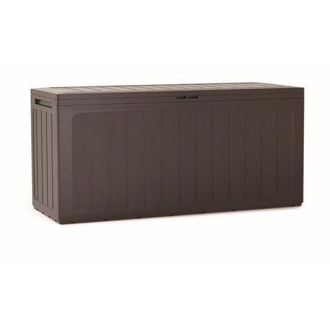 PROSPERPLAST Boîte à jardin 280L plastique ocre foncé Boardebox 116 x 43,3 x 55 cm