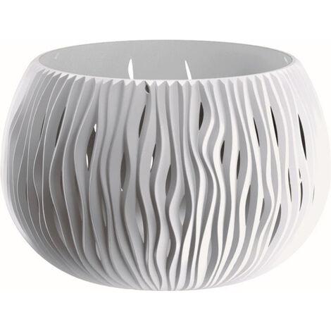 Prosperplast Bowl Sandy De PlÁstico Con DepÓsito En Color Blanco, 16,1 X 23,8