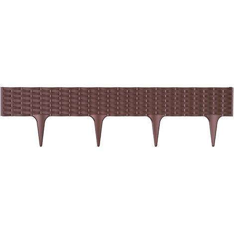 Prosperplast « Ibra » bordure de jardin 390 x 390 x 18,65 cm brun