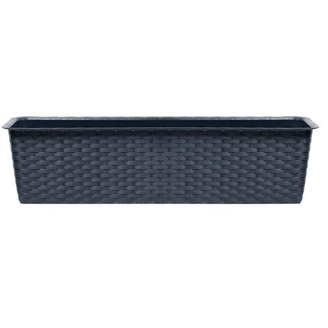PROSPERPLAST Pot Anthracite 11,7L Ratolla Case plastique 14,5x68,5x17,3cm