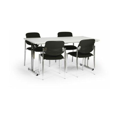 Protaurus Tisch-Stuhl-Kombination   Klapptisch + 4 Besucherstühle   Schwarz