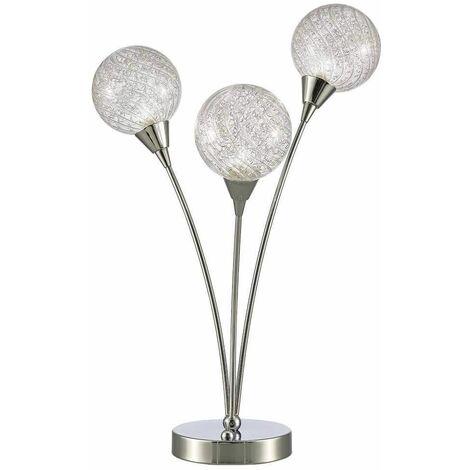 Protea chrome table lamp 3 bulbs