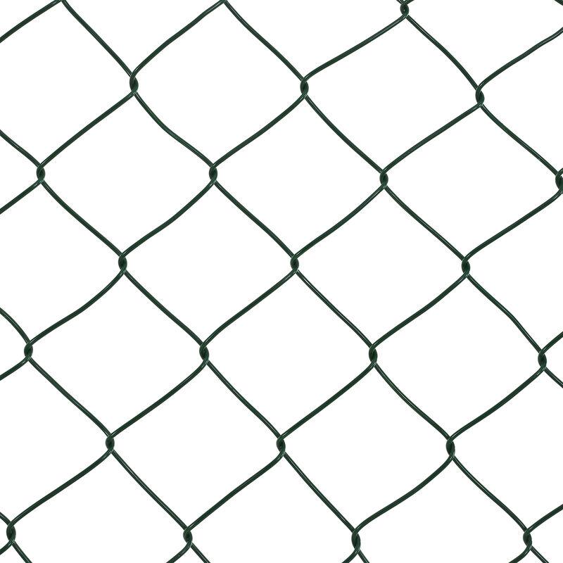 Pro.tec Valla de tela met/álica soldada Malla de alambre verde galvanizado 1m x 15m cerca de alambre