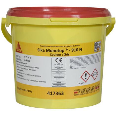 Protección anticorrosiva - SIKA Monotop 910 N - Gris - 3,2kg