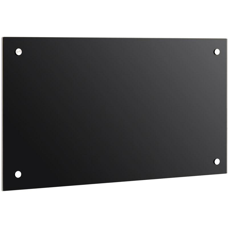 Panel trasero para cocina Cubierta de protección Placa contra salpicadura 90x55CM negro Cocina Protección de pared 6mm ESG - MUCOLA