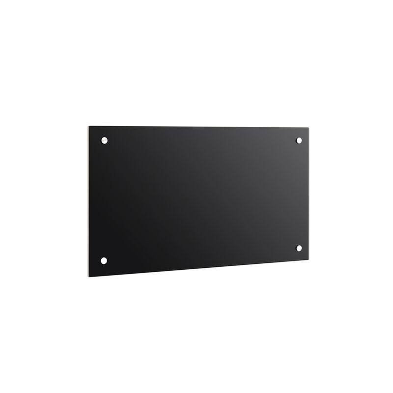 Panel trasero para cocina Cubierta de protección Placa contra salpicadura 90x60CM negro Cocina Protección de pared 6mm ESG - MUCOLA