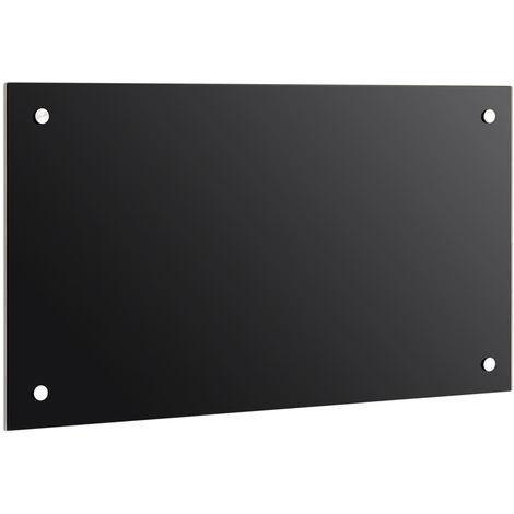 Protección contra salpicaduras en la pared trasera de la cocina con azulejos y baldosas anti-salpicaduras negro 6mm ESG 120x60CM