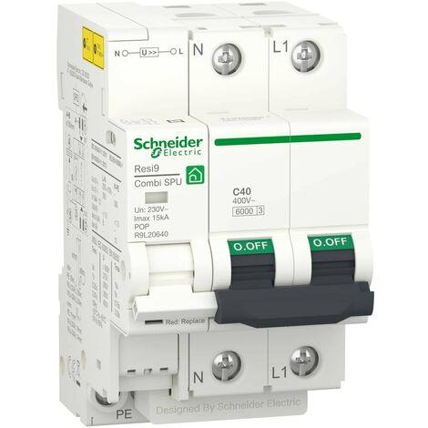 Protección sobretensiones combinado 40A 1P+N Schneider 16303