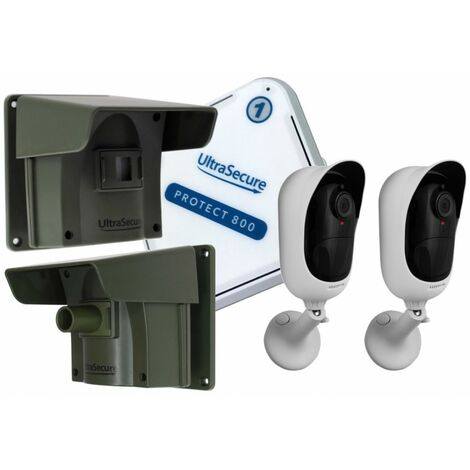 Protect 800 2 x PIR Driveway Alert with 2 x Battery Wi-fi Cameras Home Kit [014-0420]